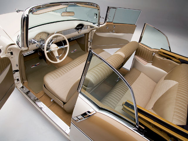 56 Bel air custom interior