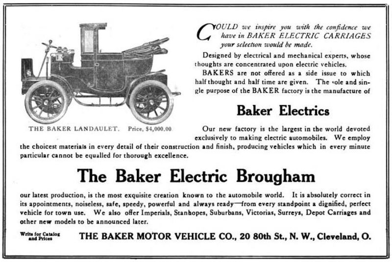 1906 Baker Electric