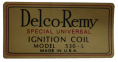 Delco Remy Coil Decal