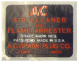 """AC"" Flame Arrestor Air Cleaner Decal"