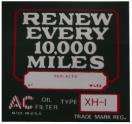 """AC"" Oil Filter Decal (XH-1)"