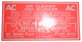 Dry Style Air Cleaner Decal