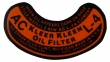 Oil Filter Decal