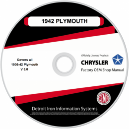 1936-1942 Plymouth Shop Manuals & Parts Books on CDRom