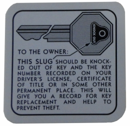 Glove Box Door Key Instructions