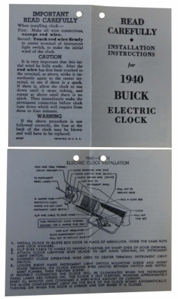 Electric Clock Instructions