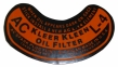 Oil Filter Decal - L-4