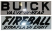 Valve Cover Decal - Buick Valve In Head Fireball Dynaflash 8