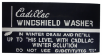 Windshield Washer Bracket Decal
