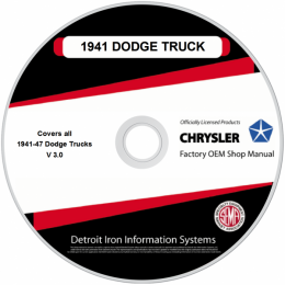 1941-1947 Dodge Truck Shop Manuals on CDRom