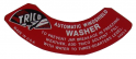 Windshield Washer Lid Decal
