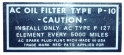 Oil Filter Decal - PF-127