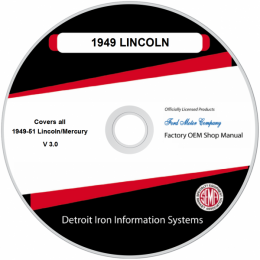 1949-1951 Lincoln Mercury Shop Manuals & Parts Books on CDRom