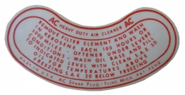 Oil Bath Air Cleaner Service Instructions Decal