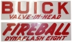 Valve Cover Decal Kit - Buick Dynaflash 8 Valve In Head Fireball