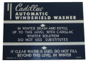 Windshield Washer Jar Decal