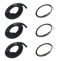 Rear & Corner Window Seal - 6 piece Kit - Includes Chrome Lock Strip
