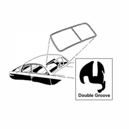 Windshield Seal - DOUBLE Groove for Trim