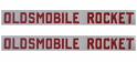 """Oldsmobile Rocket"" Valve Cover Vinyl Letters / Decal"
