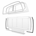 Tailgate Side & Bottom Seals - For Metal Tailgate