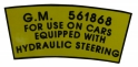 Power Steering Pulley Decal