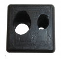 Window Lift Hydraulic Lines Through Floor Panel Grommet - Double Hole Type