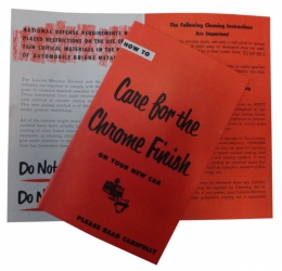 Chrome Care Instructions Sheet