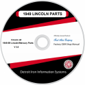 1949-1959 Lincoln/Mercury Parts Manuals (Only) on CDRom