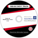 1955-1956 Chevrolet Trucks Shop Manuals & Parts Books on CDRom