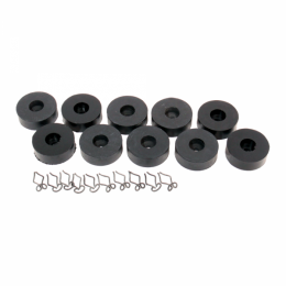 Body to Frame Insulator Kit - Includes Clips