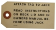 Jack Instructions Tag