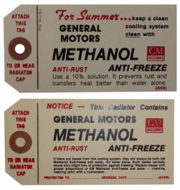 Methanol Antifreeze Tag