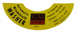 Auto Windshield Washer Decal (GM)
