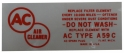 Air Cleaner Service Instructions Decal - Red