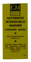Windshield Washer Bottle Bracket Decal