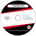 1958 Mercury Shop Manuals & Parts Books on CDRom