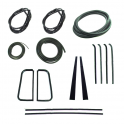 Master Weatherstrip Kit - With Chrome Windshield Trim