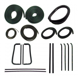 Master Weatherstrip Kit - With Chrome Windshield Trim / With Metal Framed Door Glass