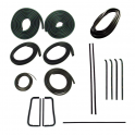 Master Weatherstrip Kit - Without Chrome Windshield Trim / Without Metal Framed Door Glass