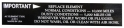 Air Cleaner Service Instructions Decal - White