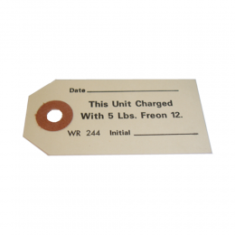 Air Conditioner Compressor Freon Charge Tag
