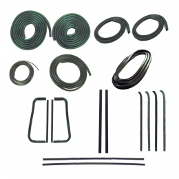 Master Weatherstrip Kit - Without Chrome Windshield Trim / With Metal Framed Door Glass