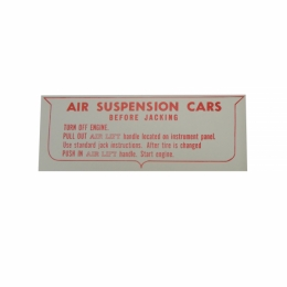 Air Suspension Instructions Decal