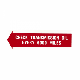 Check Transmission Trunk Decal