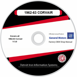 1962-1963 Corvair Shop Manuals & Parts Books on CDRom