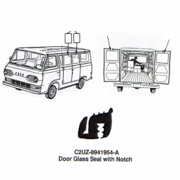 Rear Door & Side Door Glass Seal - With Notch