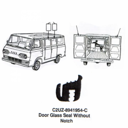 Rear Door & Side Door Glass Seal - Without Notch