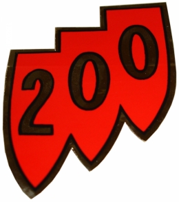 """200"" Shield Air Cleaner Decal"