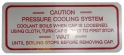 Cooling System Decal - Aluminum Engine