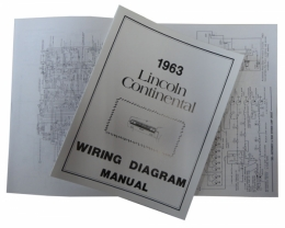 1963 Lincoln Restoration Parts Wiring Diagram Manual - MP0053